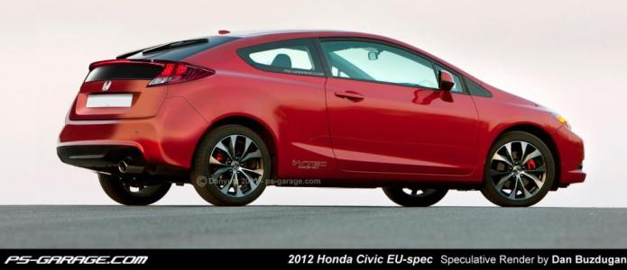 2012 Honda Civic EU-Spec Speculative Render