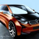 BMW i3 Concept Coupe Sketch Drawing