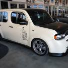 Loganbuilt Nissan Cube at 2012 SEMA. Design rendering by Matthew Law.ca