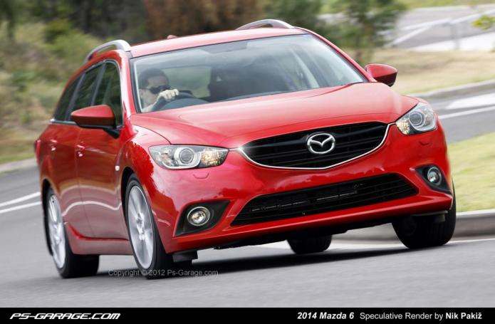2014 Mazda 6 Estate Render