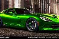 2014 Dodge SRT Viper Roadster Speculative Render Spyshot Leak